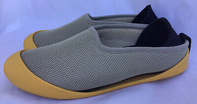 $30 • Buy Mahabis Summer Woman's Gray And Yellow Shoes Slippers Size 37 USA 6-6.5
