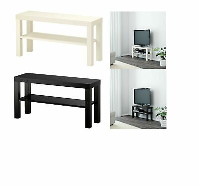 Ikea Lack TV Bench Table Stand LCD LED Bed Sitting Room 90x26 Cm White & Black • 19.49£