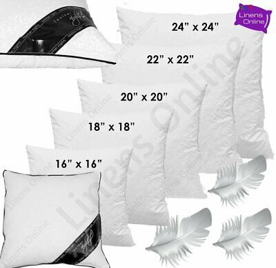 £6.95 • Buy Duck Feather Cushion Pads Inners Inserts Fillers 16  18  20  22  24  All Sizes