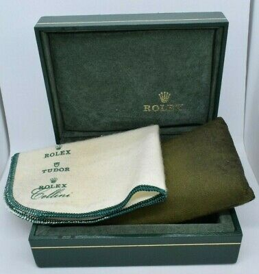 $ CDN100.16 • Buy Rolex Green Hinged Lid Box With Pillow & Cleaning Cloth 4  X 5  X 2