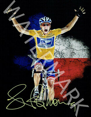 Lance Armstrong Signed 10x8 Photo, Great Artistic Image, Looks Awesome Framed • 5.52£