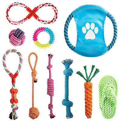 AU22.79 • Buy 10PCS Dog Rope Toys Pet Puppy Teeth Bear Braided Tough Strong Rope Chew Bite