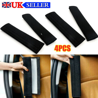 4x Car Seat Belt Pads Harness Safety Shoulder Strap Back Pack Cushion Covers New • 4.79£