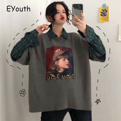 AU32.99 • Buy Women Printed All-match Patchwork Streetwear Loose Thin Womens Clothing Tops