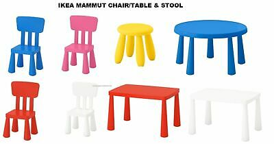IKEA MAMMUT SERIES Kids Chairs, Stools, Tables, Indoor/Outdoor Colors Choice • 21.99£