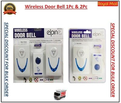 Wireless Door Bell, 36 Chimes Twin/singular Plug In Home Cordless Door Chime  • 9.65£