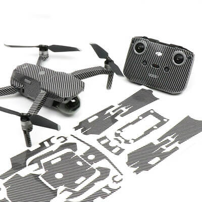 AU42.50 • Buy Carbon Fibre Black Drone Skin Wrap Stickers Decal For DJI Mavic Air 2