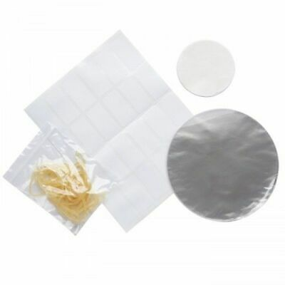 Kitchen Craft Transparent 24 Pack 2lb Jam Jar Clear Covers And Wax Discs Set • 5.19£