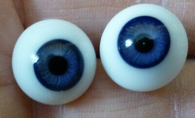 £13.90 • Buy 13mm GLASS DOLL EYES, GLASS EYES For ANTIQUE DOLL, Dollmaking