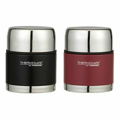 AU31.99 • Buy New THERMOS Thermocafe S/Steel Vacuum Insulated Food Jar 500ml Matte Black Red