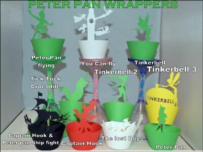 £5 • Buy PETER PAN  TINKERBELL THEME PARTY CUPCAKE WRAPPERS X12  MANY TO CHOOSE FROM
