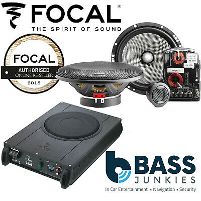 FOCAL Underseat Sub+6.5  Component Kit Speaker Upgrade Fits VW Transporter T6 12 • 449.99£