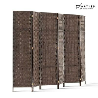 AU107.10 • Buy Artiss 6 Panel Room Divider Screen Privacy Dividers Stand Wood White Brown
