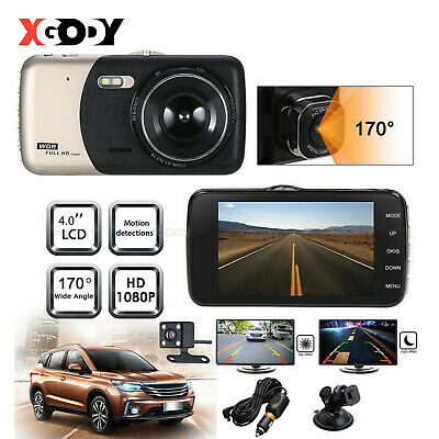 AU36.99 • Buy XGODY 4  1080P Dual Lens Dash Cam Car DVR Front And Rear Camera Video Recorder