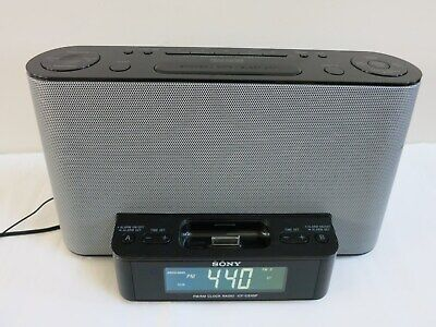 AU19.67 • Buy Sony FM/AM Alarm Clock Radio Speaker Dock For IPod / IPhone ICF-CS10iP, Tested