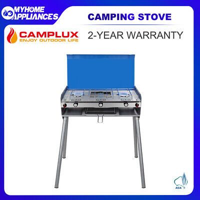 AU129 • Buy CAMPLUX Portable Camping Stove With Legs 2 Burner Gas Grill Butane BBQ Stove