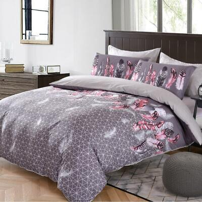 AU39 • Buy Single/KS/Double/Queen/King/Super King Soft Quilt/Duvet Cover Set-Feathers