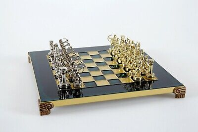 Manopoulos Archers Chess Set Gold & Silver Green Chess Board 28 X 28  • 150£