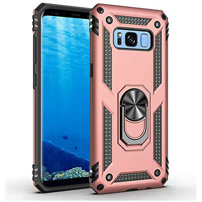 $ CDN6.49 • Buy Samsung Galaxy S8 Hybrid Dual-Layer Armour Case Magnetic Ring Stand - Rose Gold