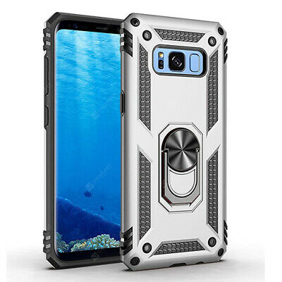 $ CDN6.49 • Buy Samsung Galaxy S8 Hybrid Dual-Layer Armour Case With Magnetic Ring Stand Silver