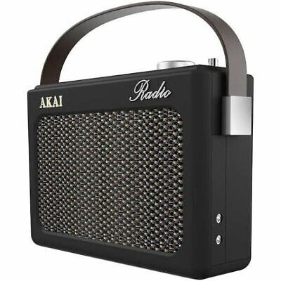 Am/fm Radio Retro Portable With Leather Case Amp Rock Style Music Vintage Akai • 35£