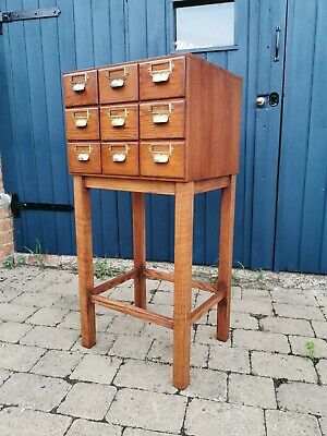 Oak Index Card Drawers, Multi Drawer Chest, Collectors Cabinet, Chest Of Drawers • 225£