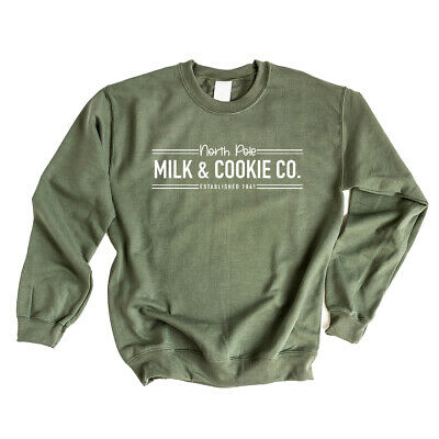 $28.99 • Buy North Pole Milk And Cookie Co. - Christmas Graphic Sweatshirt
