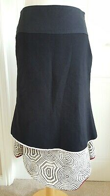 St Martins Black Mid-Length Skirt , Size S , Gorgeous And Soft • 14£