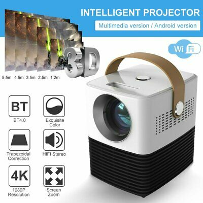AU182.50 • Buy Portable HD 1080P Mini Wifi Bluetooth LED Movie Projector Home Theatre HDMI USB