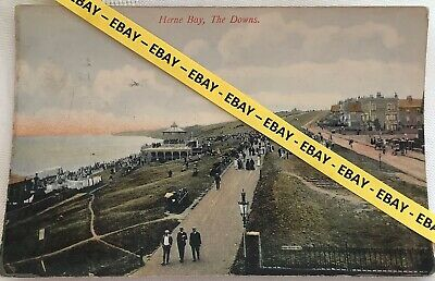 Old Postcard - Herne Bay, The Downs. • 3.99£