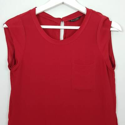 AU35 • Buy [ MASSIMO DUTTI ] Womens Mulberry Silk Detail Top | Size AU 6 Or US 2