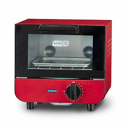 Mini Compact Toaster Oven Cooker For Bread Bagels Cookies Pizza Paninis Red New • 34.55£