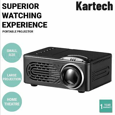 AU79.99 • Buy Kartech Portable Video Projector Home Theatre Mini HD 1080P LCD Movie Player Out