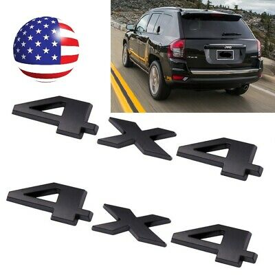 $11.99 • Buy 2Pcs 4 X 4 3D Decal Emblems Sticker For Ford Dodge JEEP Grand Cherokee Chrome
