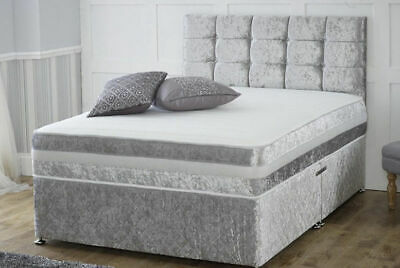 MEMORY FOAM DIVAN BED SET WITH MATTRESS AND HEADBOARD 3FT 4FT6 Double 5FT King • 144.99£