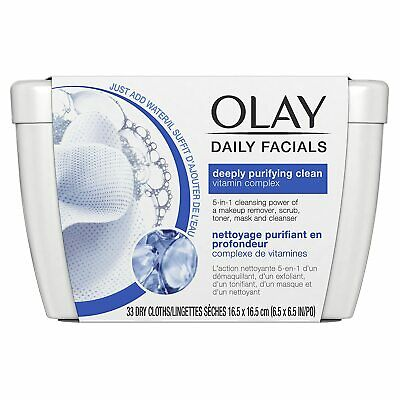 AU5.17 • Buy Olay Daily Facials Deeply Purifying Clean Cleansing Cloths