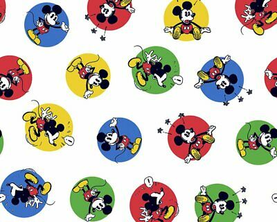 Disney Mickey  Mouse Stickers 100% Cotton Various Designs • 12.99£