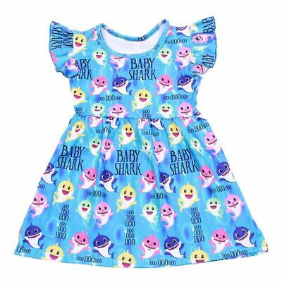 $19.99 • Buy Baby Shark Colorful Angel Sleeves Dress - New- Size 4t