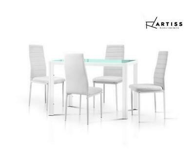 AU176 • Buy RETURNs Artiss Dining Chairs & Table Set 4 Chair Set Of 5 *Table Is BK & Chairs