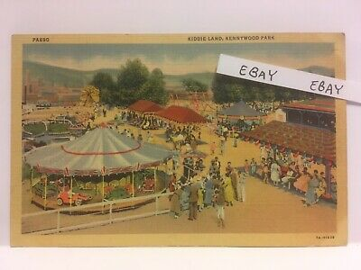$10 • Buy Old Kennywood Amusement Park Pittsburgh Pa. Kiddie Land Rare Linen Postcard