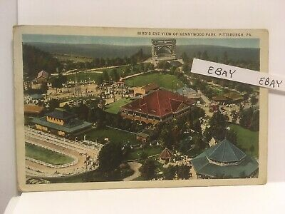 $15 • Buy 1927 Kennywood Amusement Park Pittsburgh Pa. Birds Eye View Rare Orig. Postcard