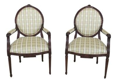 $2095 • Buy L29992EC: Pair EJ VICTOR Louis XV French Style Arm Chairs ~ New