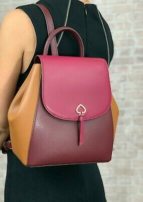 $ CDN168.67 • Buy Kate Spade Adel Medium Flap Leather Backpack Shoulder Bag Purse $299