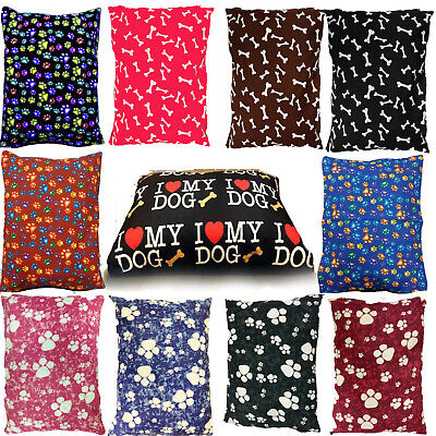 £2.95 • Buy Dog Bed Large Size Removable Zipped Cover Washable Pet Bed Cushion & Cover