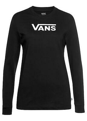 Vans Women's Flying V Classic Long Sleeve Top Black Small • 22.90£