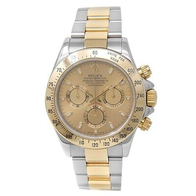 $ CDN19006.81 • Buy Rolex Daytona 18k Yellow Gold Stainless Steel Oyster Champagne Mens Watch 116523