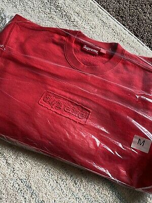 $ CDN253.33 • Buy Supreme Cutout Logo Crewneck Red Size Medium Box Logo SS20