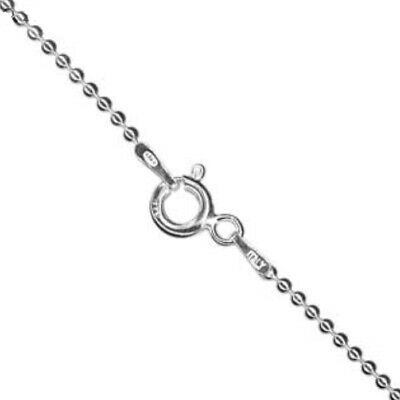 925 Sterling Silver BALL CHAIN Necklace 16 , 18 , 24  Inch Inches - 1.5mm Bead • 6.49£
