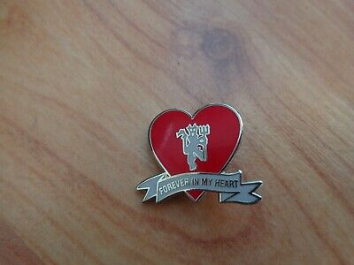 Classic Manchester United Man Utd Red Devil Crest 'forever In My Heart Pin Badge • 9.99£