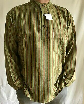 Grandad Cotton Colourful Striped Shirts Traditional Hippie Boho Indian Kurta • 14.99£